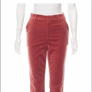 Frame velvet cropped pants